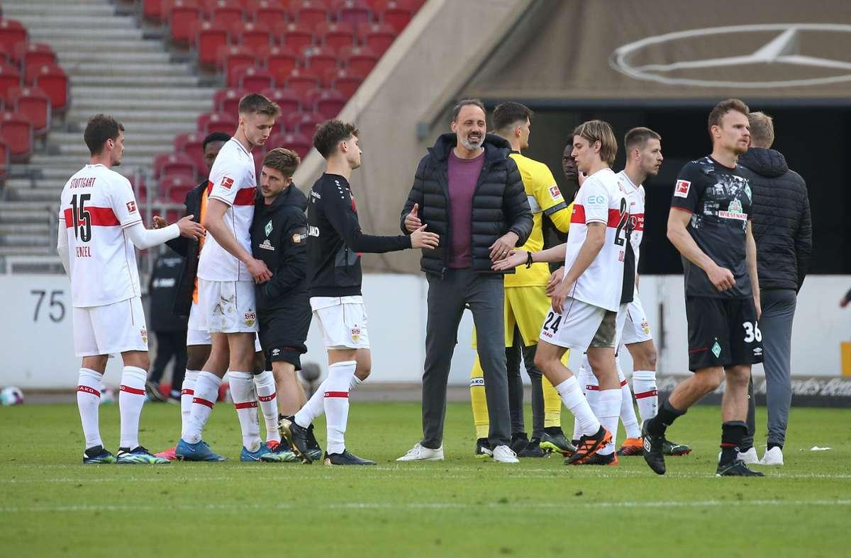 Mit etwas Glück, guter Defensive und der Mithilfe des Gegners hat der VfB drei Punkte eingefahren. Foto: Pressefoto Baumann