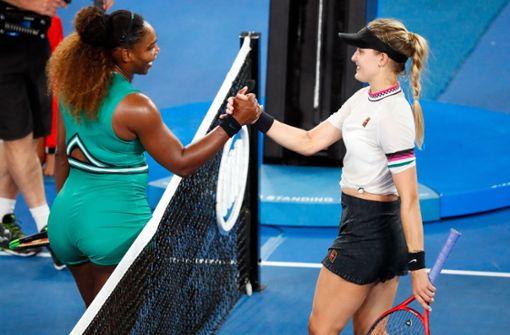 Serena Williams und Eugenie Bouchard ziehen die Blicke auf sich