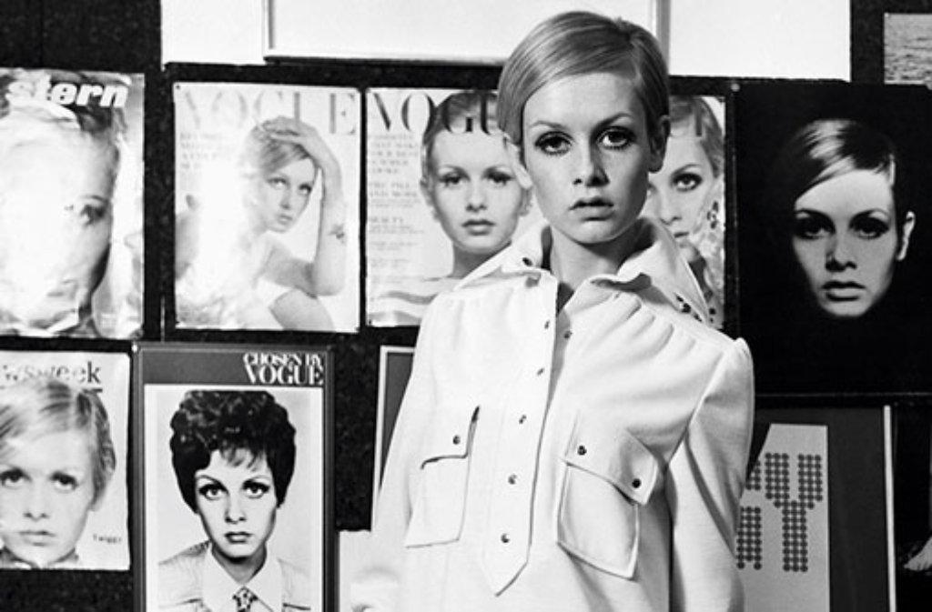 Jede Zeit hat ihre Stil-Ikonen, die die Modewelt nachhaltig beeinflussen. Vor allem Frauen aus der Fashion- (wie hier Twiggy, das Gesicht der Swinging Sixties), Film- und Musikbranche setzen Trends und prägen den Geschmack ganzer Generationen. Foto: Vintage Style/Schwarzkopf & Schwarzkopf Verlag