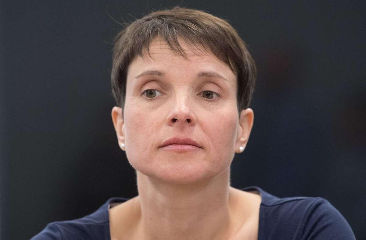 Frauke Petry, frühere Bundesvorsitzende der AfD. Foto: dpa/Sebastian Kahnert