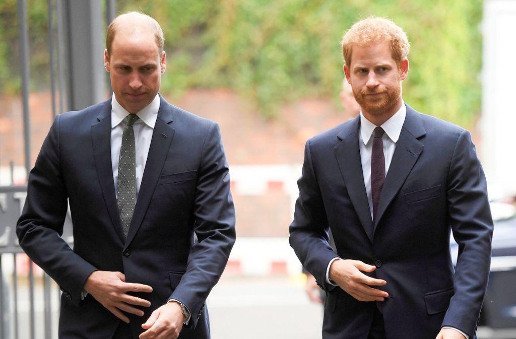 Prinz Harry und Prinz William haben scharfe Kritik am Bericht einer britischen Zeitung über das Verhältnis der Brüder zueinander geübt. Foto: dpa/Toby Melville