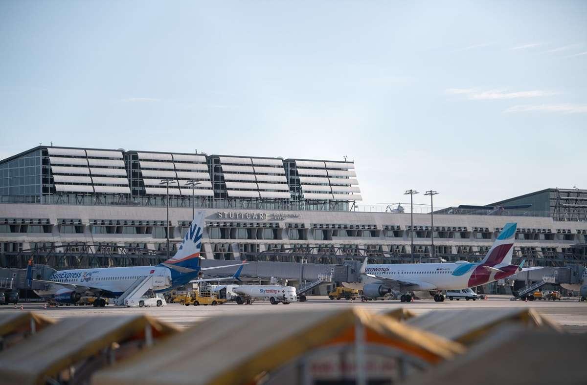 Der Stuttgarter Flughafen soll bis 2050 klimaneutral werden. Foto: dpa/Sebastian Gollnow