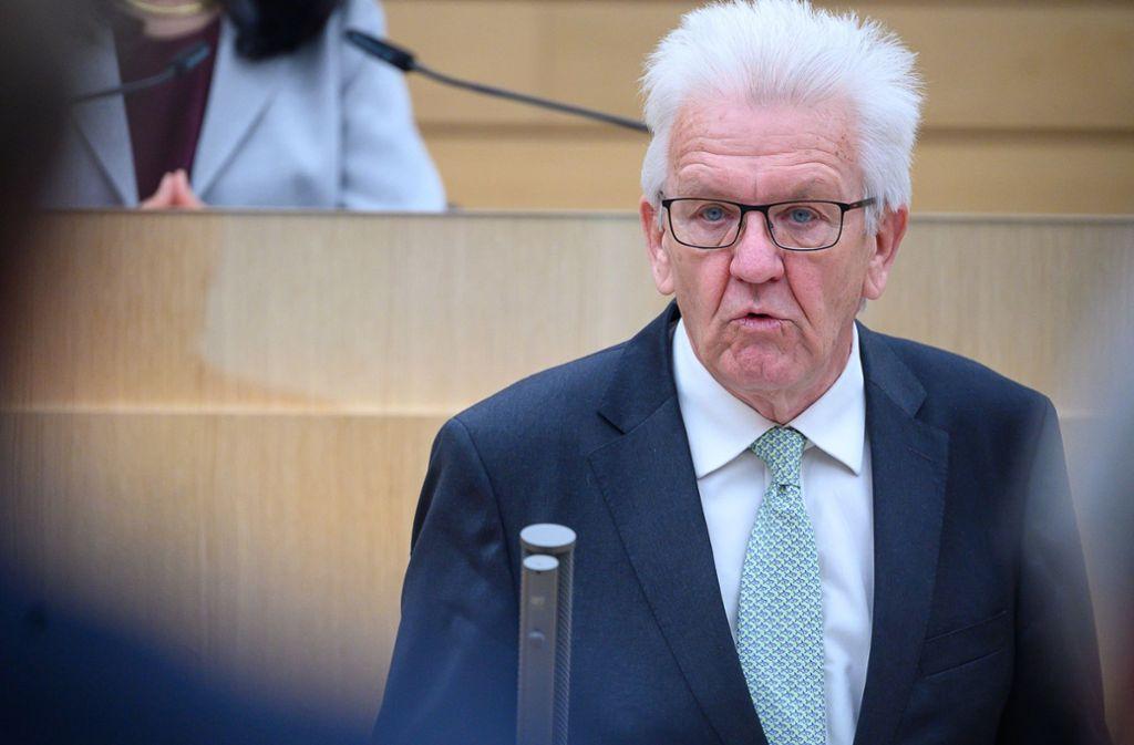 Winfried Kretschmann steht in der Kritik. Foto: dpa/Sebastian Gollnow