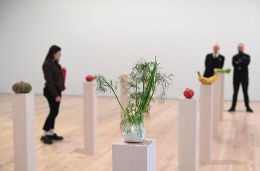 Kunst aus Obst und Gemüse wird regelmäßig gegessen