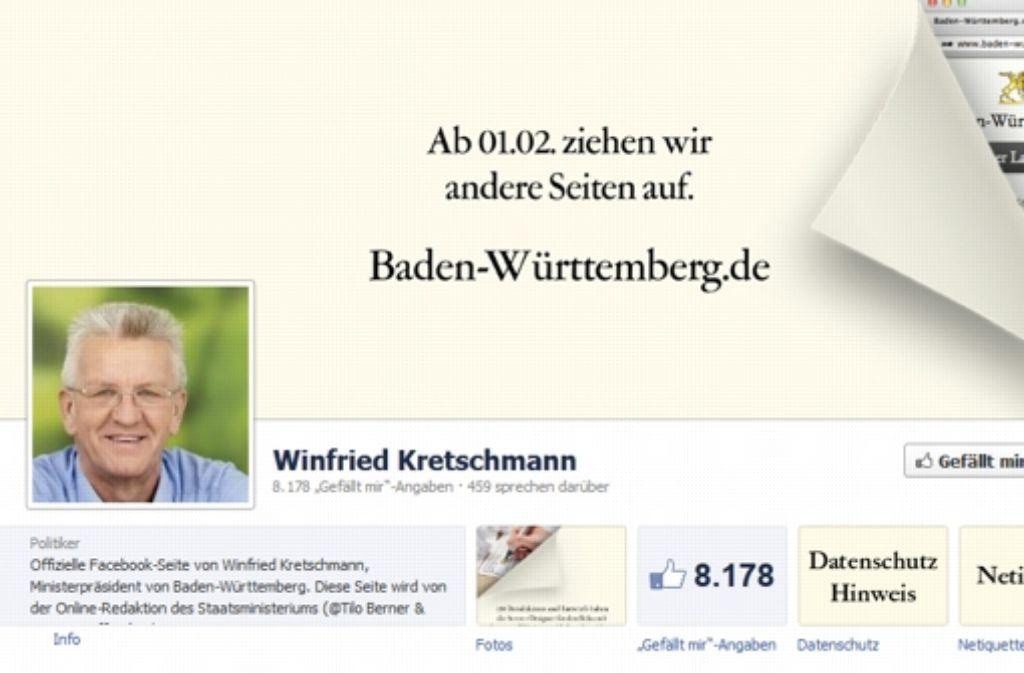 Winfried Kretschmann hat einen Countdown auf seiner Facebook-Seite eingerichtet. Foto: StZ