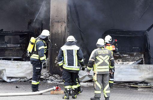Explosion in Rettungswache