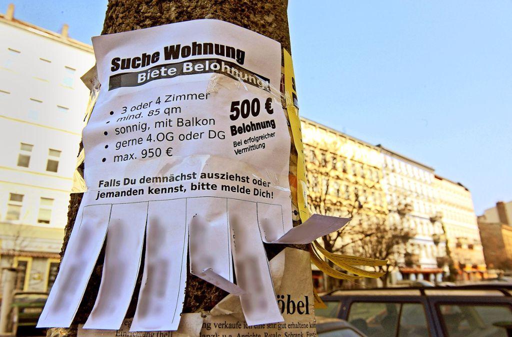 Nicht nur in Berlin, sondern auch in Leinfelden-Echterdingen ist die Wohnungssuche für Familien zu einem zeitraubendem Hobby geworden. Foto: dpa/Jens Kalaene