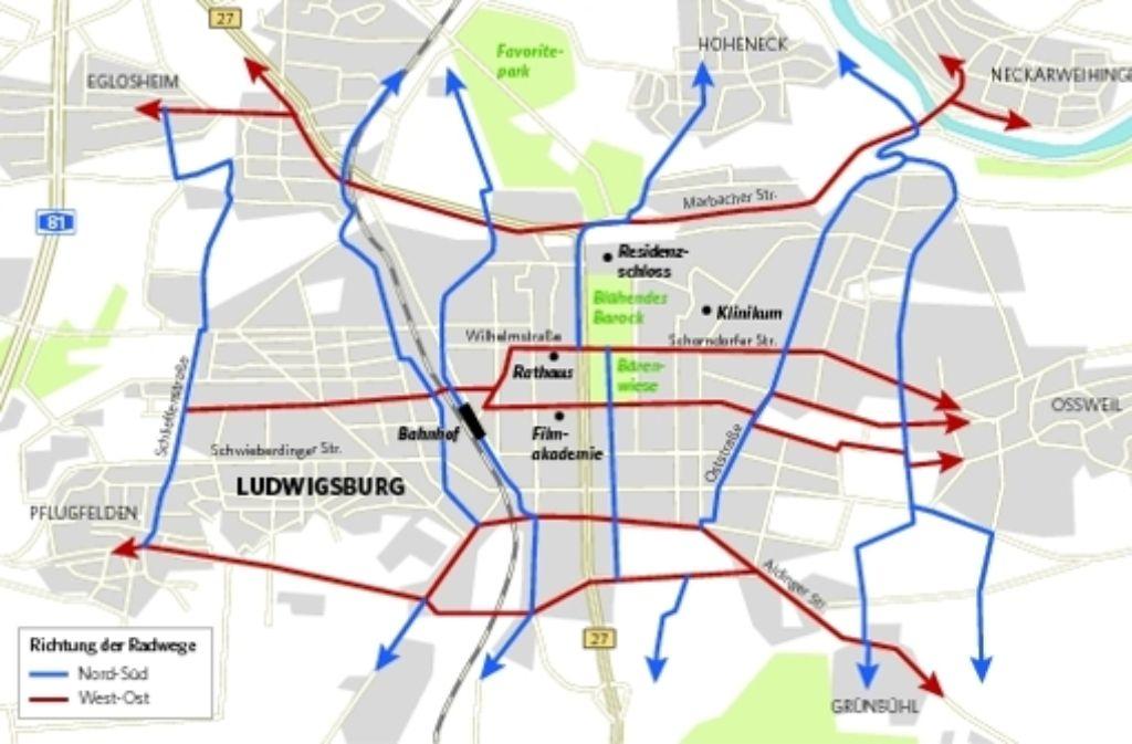 Der Routenplan funktioniert nach dem Prinzip U-Bahn-Netz. Foto: Kölz