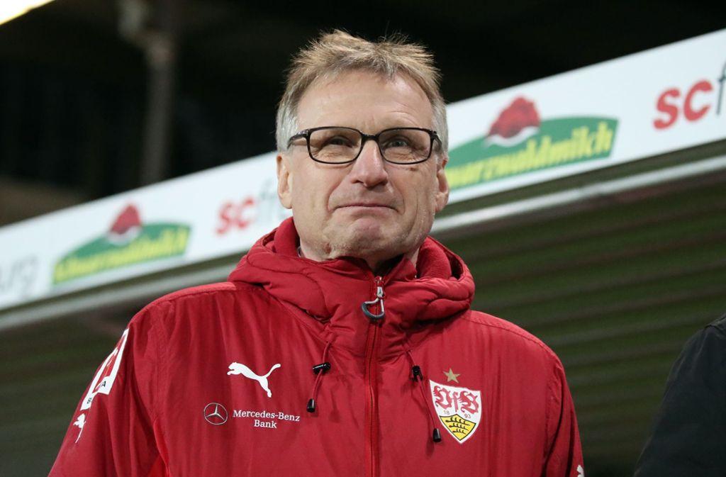 Sportvorstand Michael Reschke wähnt den VfB Stuttgart in Sicherheit. Foto: Pressefoto Rudel