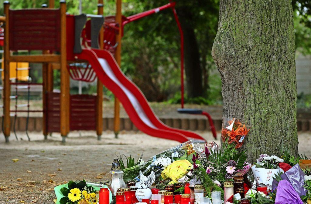 Der Tatort – ein Spielplatz in Köthen. Foto: dpa