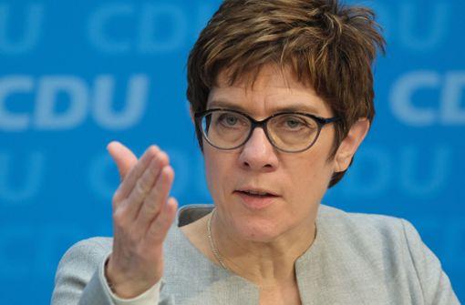 CDU-Vorsitzende sieht Grenzschließung als letzte Möglichkeit