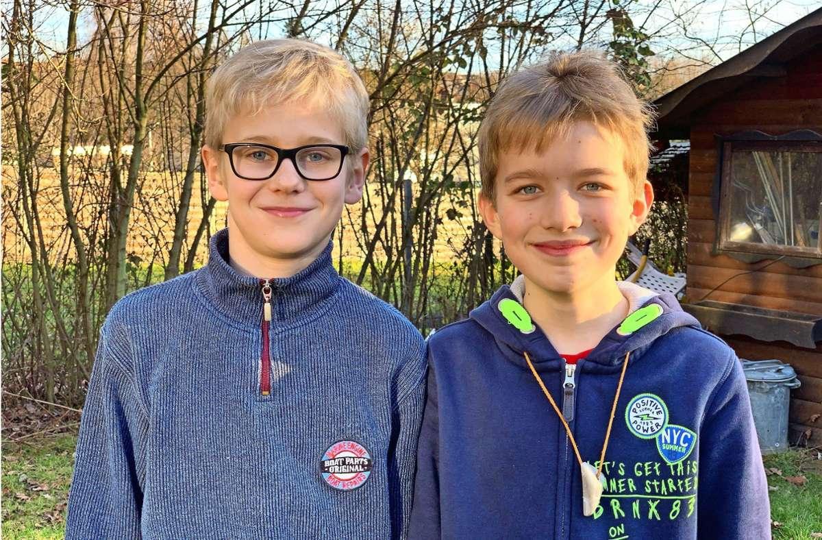 Erik Schüle (links) und Linus Dressel haben Großes vor. Foto: Felix Ogriseck