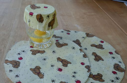 Butterbrotpapier aus Bienenwachs