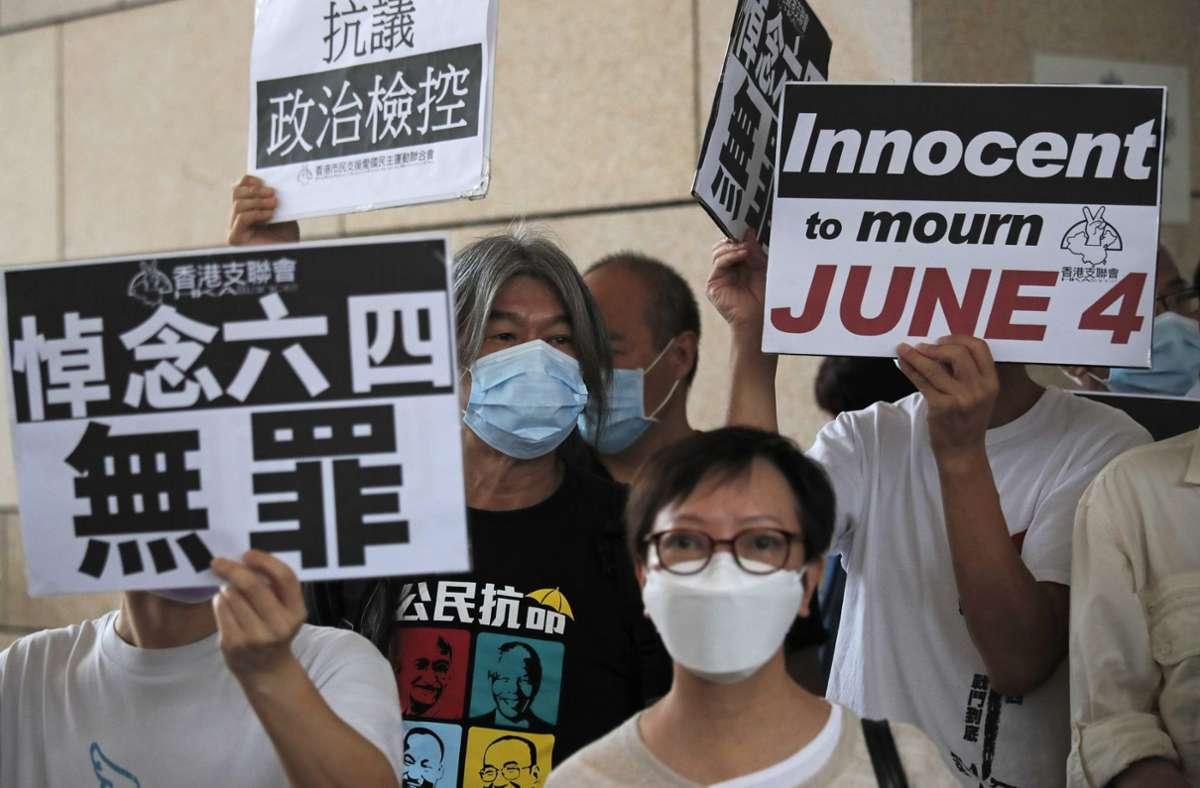 Die Demokratiebewegung in Hongkong ist der chinesischen  Führung ein Dorn im Auge – Pekings  Geheimdienst späht  Aktivisten auch in Deutschland aus. Foto: dpa/Kin Cheung