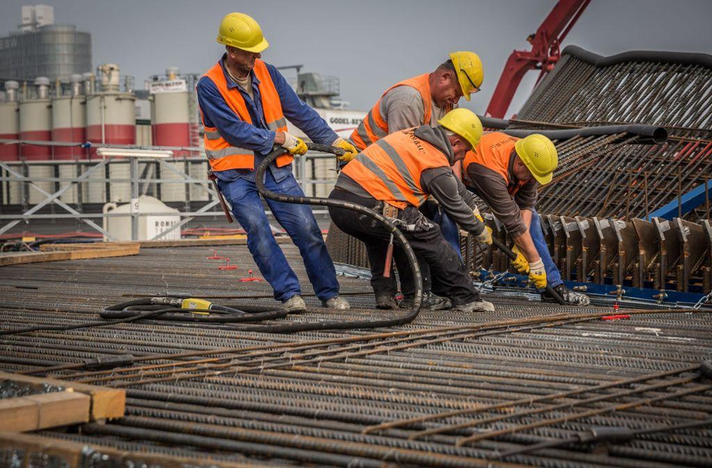 Für den neuen Tiefbahnhof werden große Mengen Stahl und Beton verarbeitet. Foto: Lichtgut/Julian Rettig