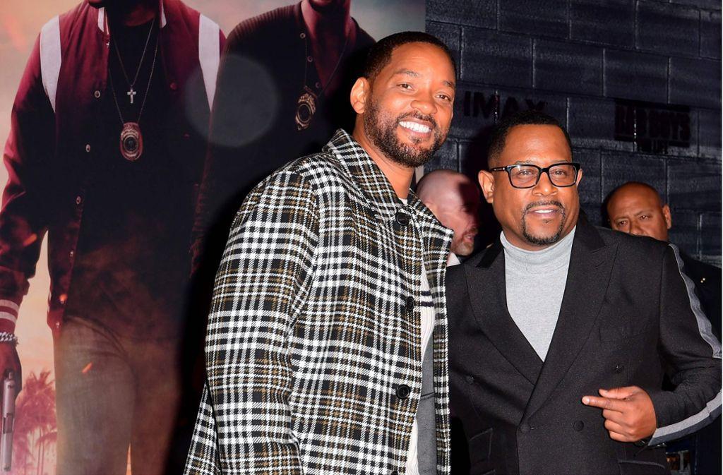 """Will Smith und Martin Lawrence sind wieder die """"Bad Boys"""" geworden. Foto: AFP/FREDERIC J. BROWN"""