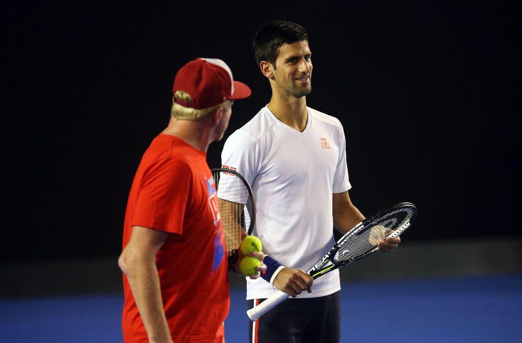 Dass Trainer Boris Becker und Tennisprofi Novak Djokovic getrennte Wege gehen werden, wurde am Dienstagabend bekannt. Foto: Getty