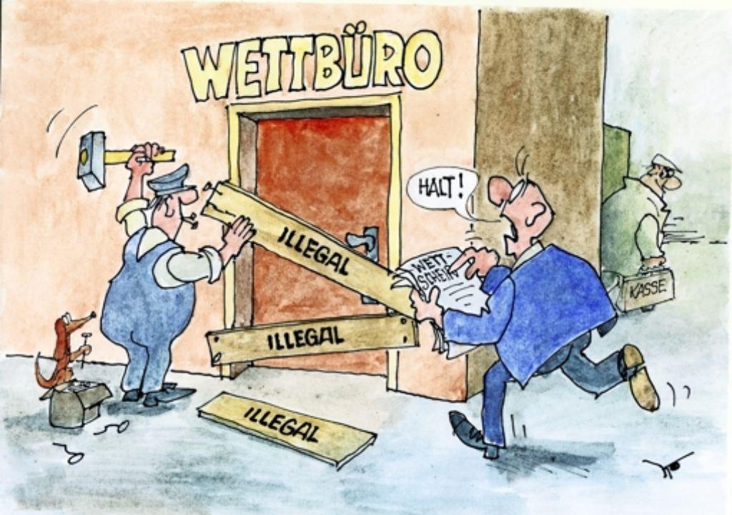 Dass ein Wettbüro illegal ist, heißt nicht, dass es geschlossen wird. Foto: Egon Kaiser