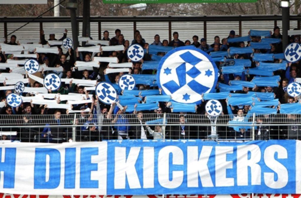 Die Kickers-Fans wollen gegen Münster endlich wieder jubeln. Foto: Baumann