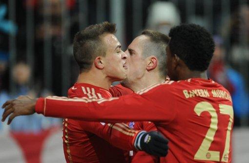 Nothing's gonna stop us! Bayern München auf Höhenflug. Foto: dpa