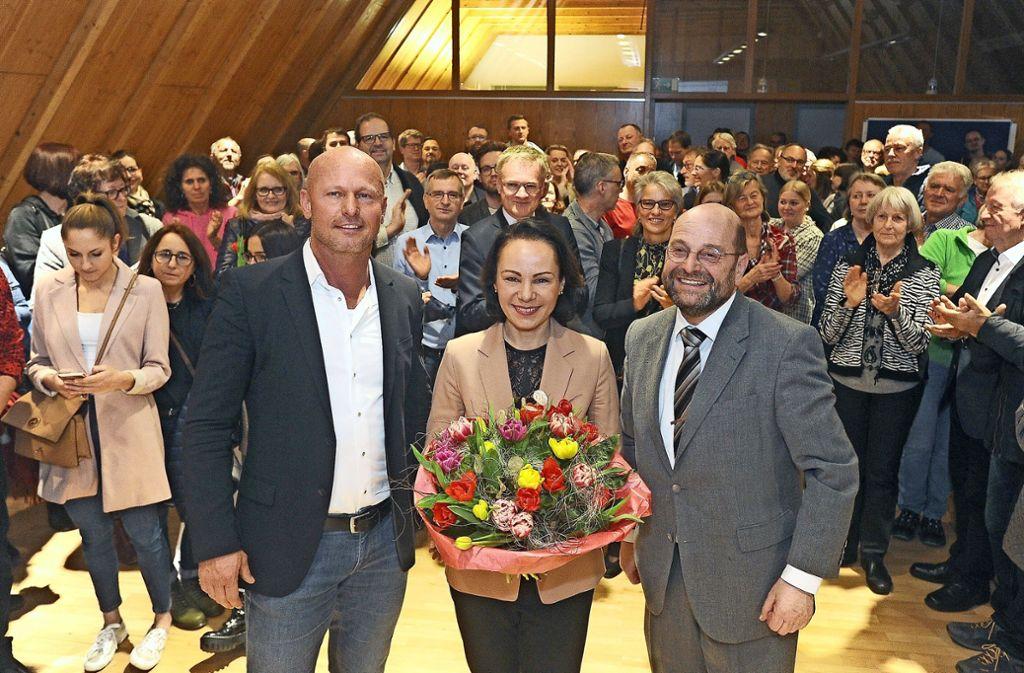 Simone Haist mit Volker Godel (rechts) und ihrem Mann Holger Haist Foto: Werner Kuhnle