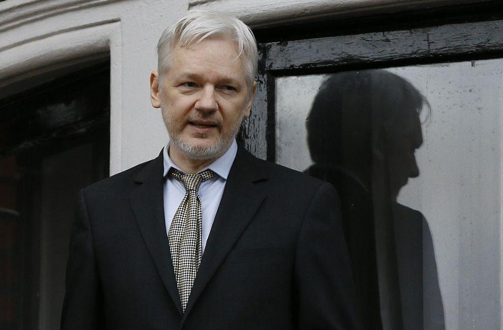 Julian Assange darf sein Exil nicht verlassen. Foto: AP