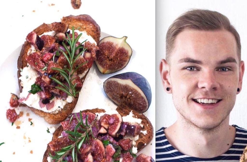 Foodblogger Marcel Buchstaller liebt schnelle Gerichte wie die Feigen-Bruschetta. Foto: Marcel Buchstaller
