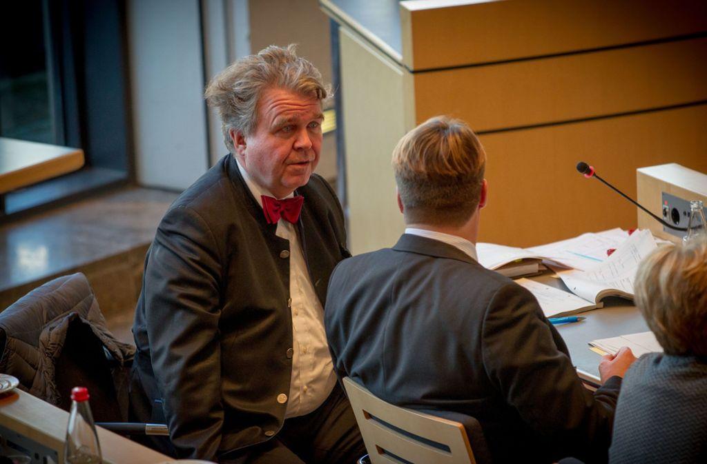 Heinrich Fiechtner (hier bei den Haushaltsverabschiedungen im Dezember) Foto: Lichtgut/Leif Piechowski
