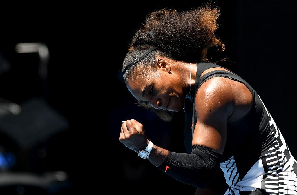 Serena Williams steht im Halbfinale der Australian Open. Foto: EPA