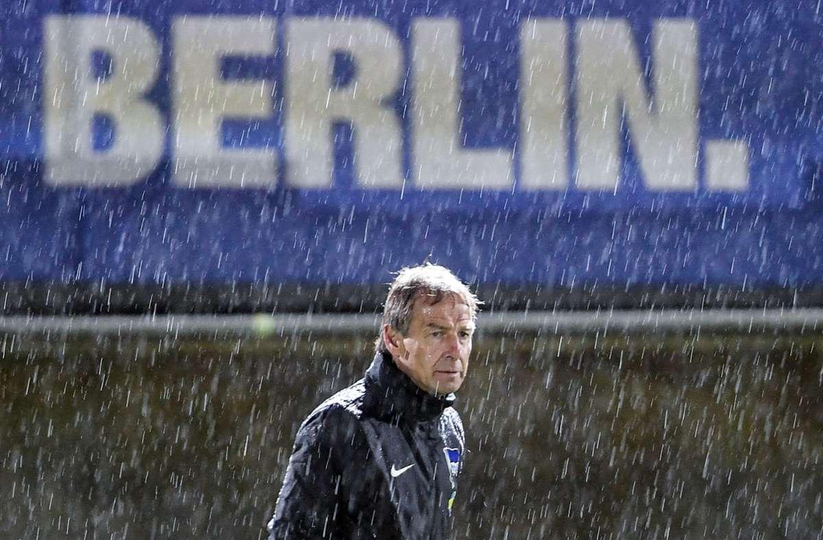 Jürgen Klinsmann war nur elf Wochen Chefcoach bei Hertha BSC. Foto: dpa/Britta Pedersen
