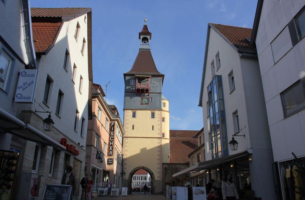 Die Filiale der Volksbank an der Marktstraße war im Dezember Schauplatz eines Überfalls. Foto: Pascal Thiel