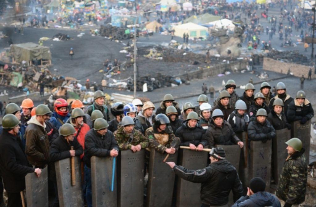 Nach eigenen Angaben haben Regierungsgegner die Macht in Kiew ergriffen. Foto: Getty Images Europe