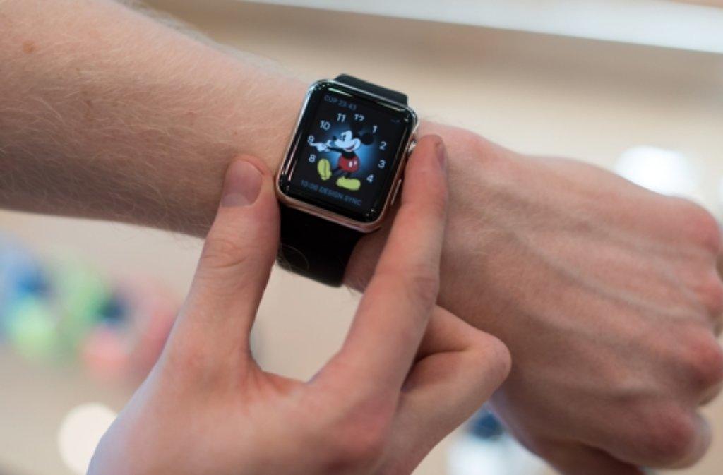 Das neueste Spielzeug für Techies: Die Apple Watch. Foto: dpa
