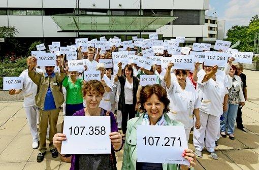 Protest gegen Personalnotstand