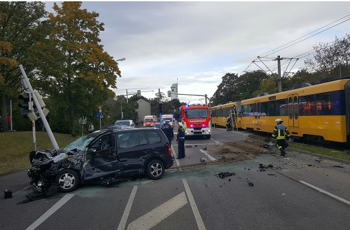 130.000 Euro Schaden und zwei Verletzte bei Stadtbahnunfall