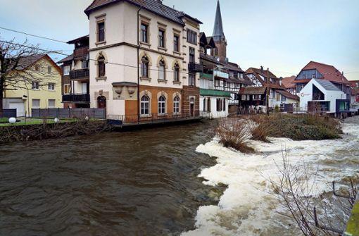 Das Hochwasser  jagt kurze Schrecken ein