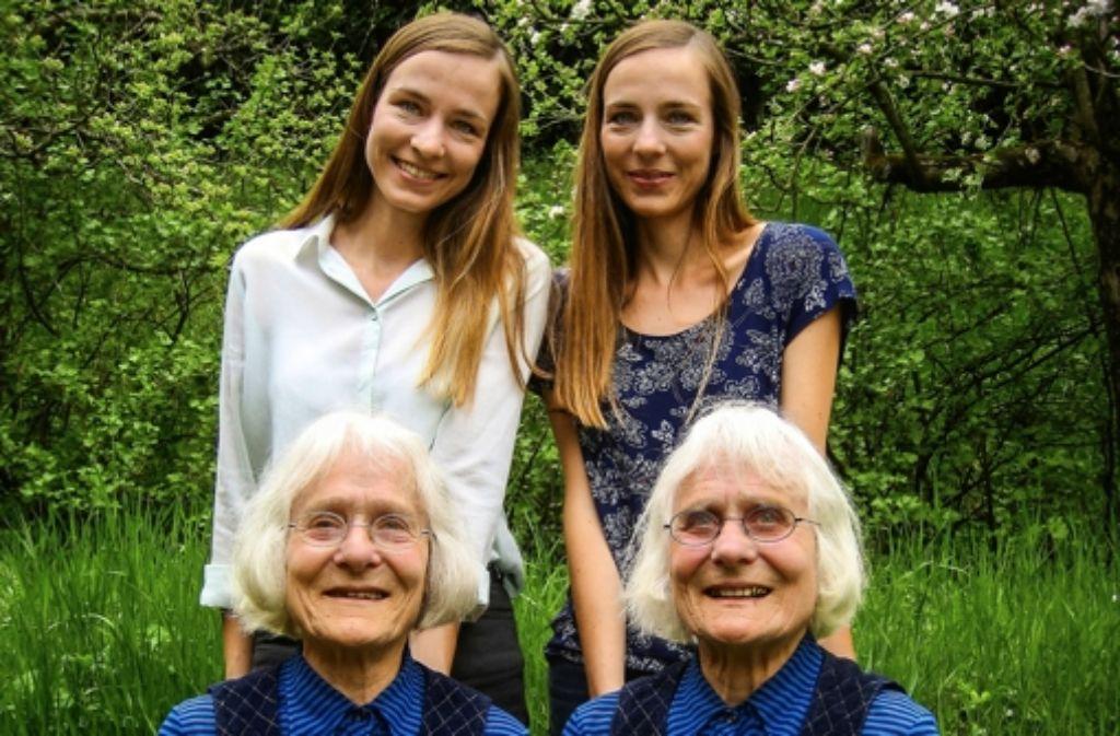 Doppelt gemoppelt: hinten die Worbs-Schwestern, vorne G. und G. Kauff Foto: Mäußnest