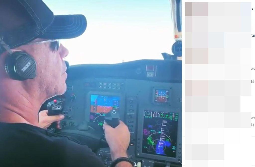Till Lindemann hat alles im Griff – auch im Flugzeug. Foto: Screenshot Instagram/@till_lindemann_official