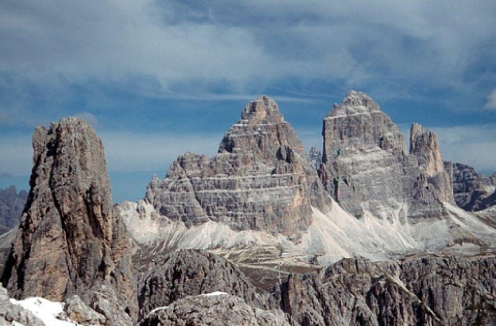 Das Gestein der Drei Zinnen hat sich vor rund 200 Millionen Jahren gebildet. Foto: StZ