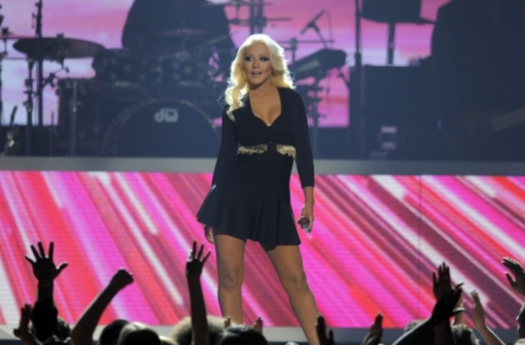 Wenn Christina Aguilera auf die Bühne kommt, dann überzeugt sie mit Bühnenpräsenz und mit einer Powerstimme. Kaum zu glauben, dass sie schon fast 20 Jahre im Showbusiness tätig ist. Foto: AP