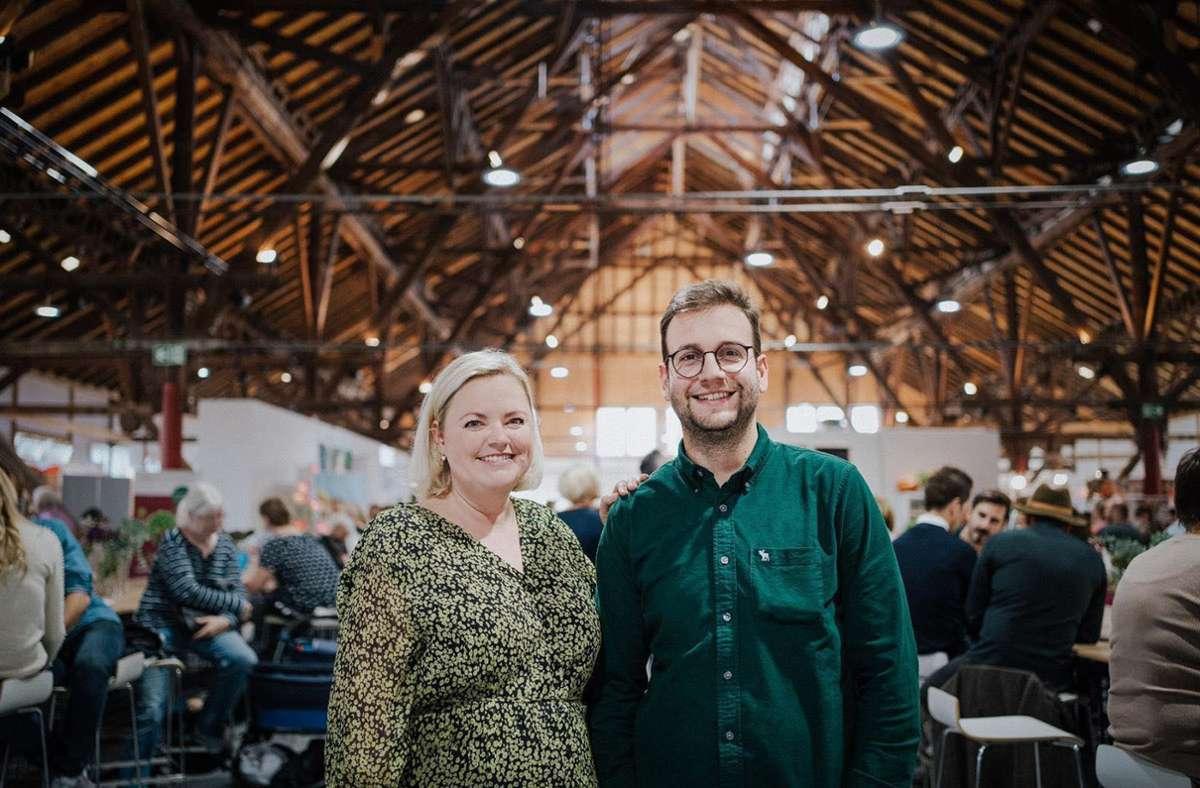 Maria-Elena Strauß und Luca Salvatore veranstalten am 17. und 18. Oktober die Messe Speis &  Trank in der Alten Kelter in Fellbach. Foto: Karoline Kirchhof