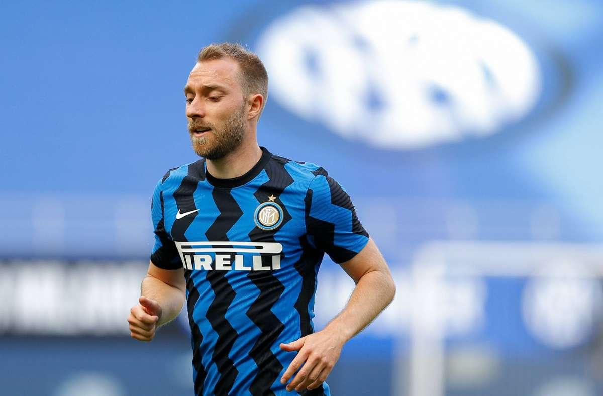 Christian Eriksen darf vermutlich nicht mehr für Inter Mailand auflaufen. Foto: imago images/ZUMA Press/Francesco Scaccianoce