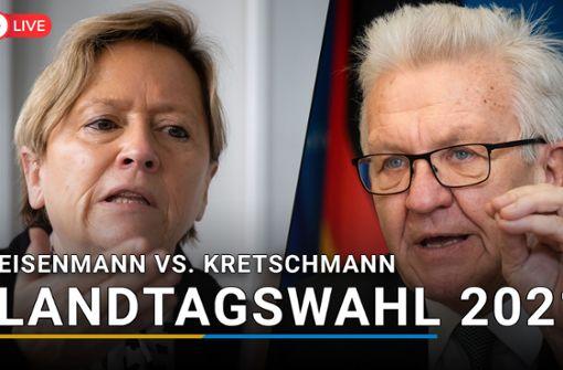 So lief das Duell zwischen Kretschmann und Eisenmann