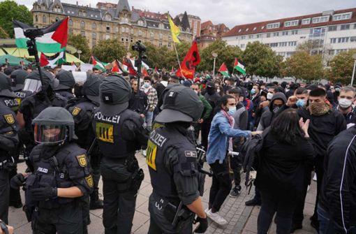 Nach Krawall bei palästinensischer Demo –  26 Verdächtige