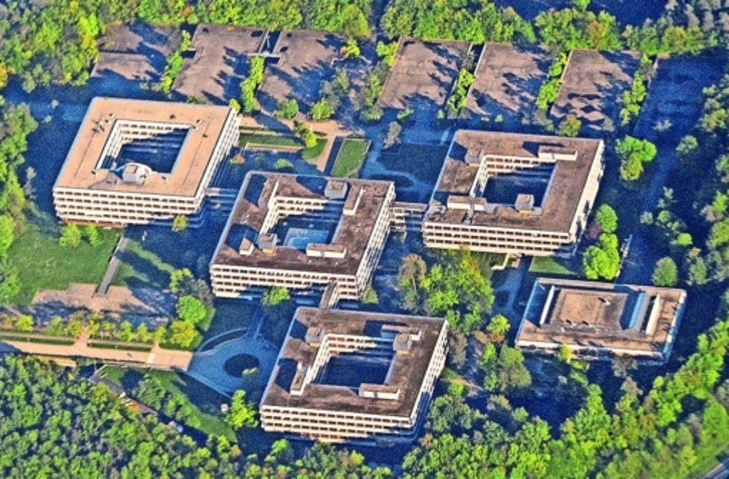Die IBM-Zentrale im Westen Vaihingens entstand von 1967 bis 1972 nach den Plänen des bekannten deutschen Architekten Egon Eiermann Foto: dpa