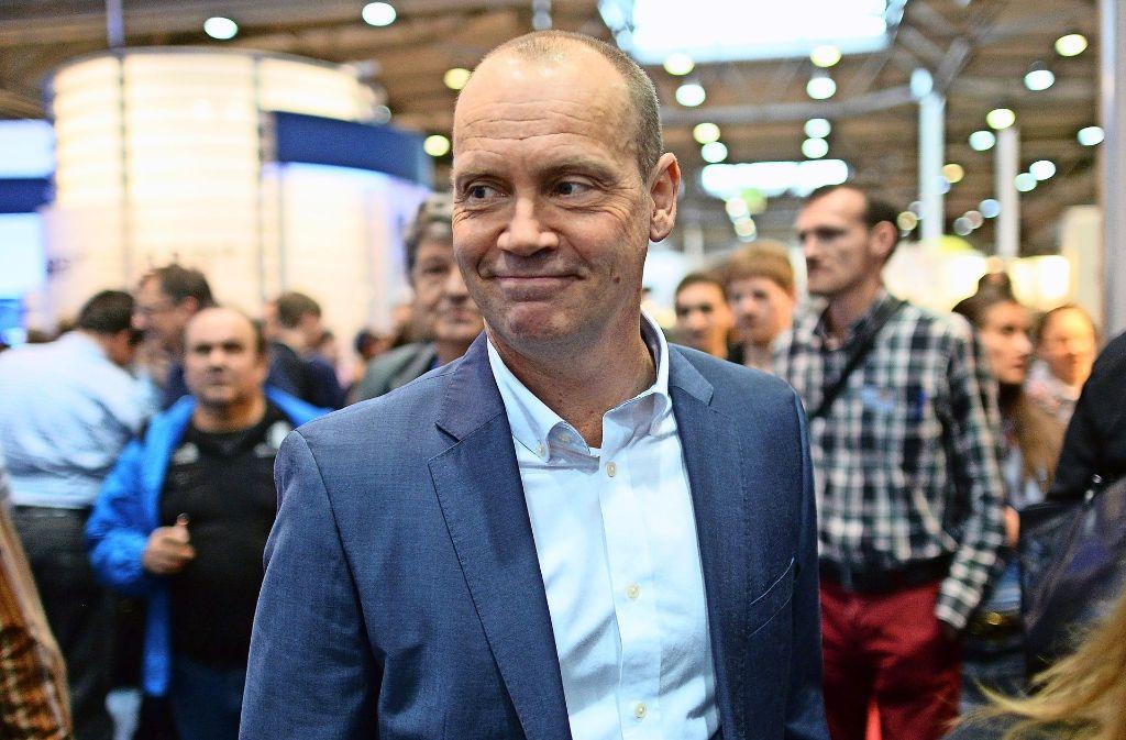 Der britische Journalist und Autor Simon Beckett 2014 auf der Buchmesse in Leipzig. Foto: dpa