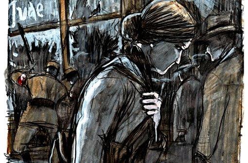 Für die StZ hat Barbara Yelin ein neues Bild ihrer Figur Irmina  gezeichnet.  Die Comic-Autorin     Barbara Yelin Foto: Yelin