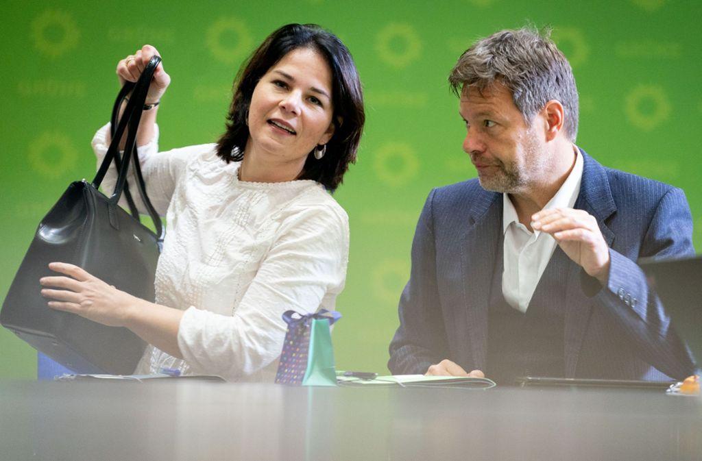 Die Grünen-Chefs Annalena Baerbock und Robert Habeck Foto: dpa/Kay Nietfeld