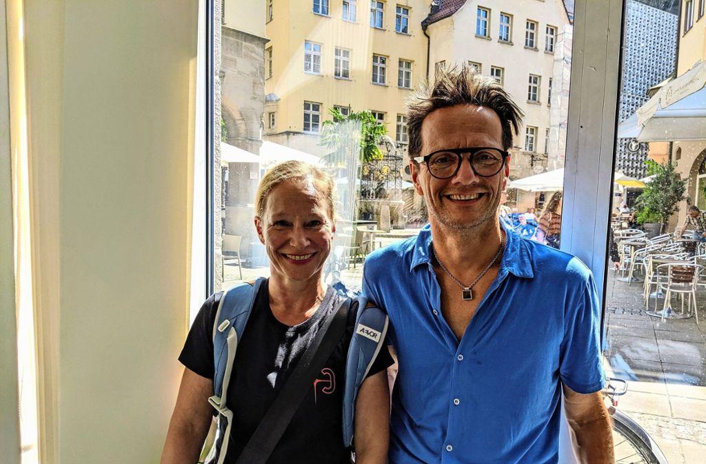 Claudia Senoner und Fabian Chyle, Performance-Künstler Foto:
