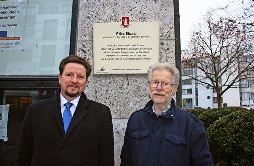 Neue Tafel für Fritz Elsas